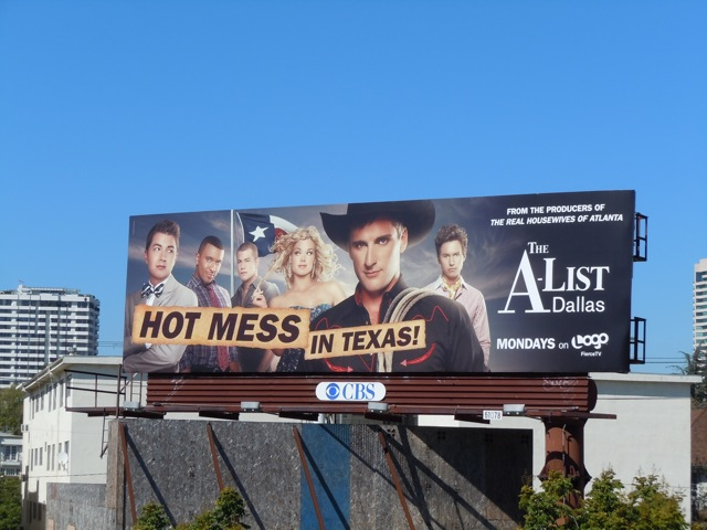 A-List Dallas hot mess billboard