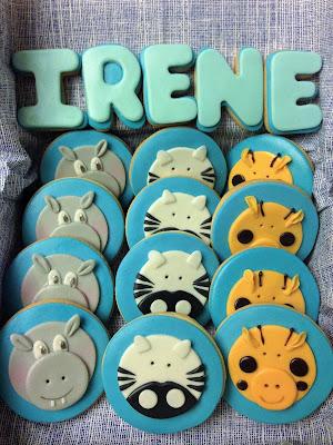 galletas animales; galletas fondant; cumpleaños, animales, galletas; niños, celebración