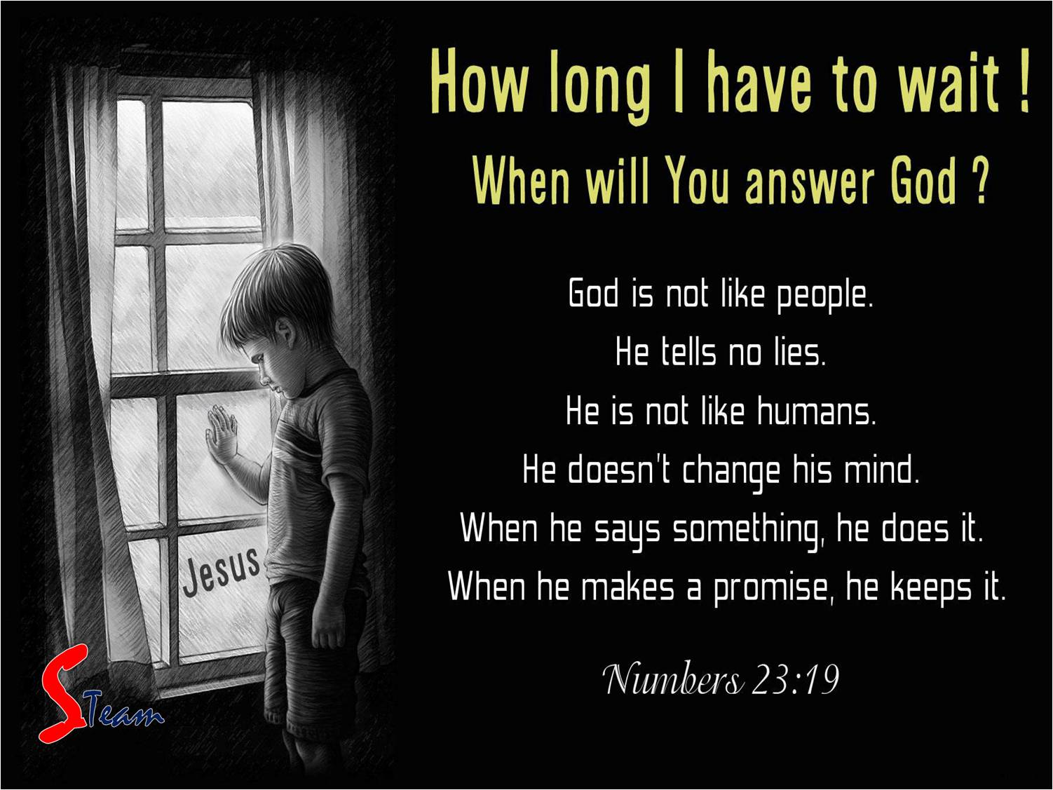 For trusting god look at these verses with a these questions in mind