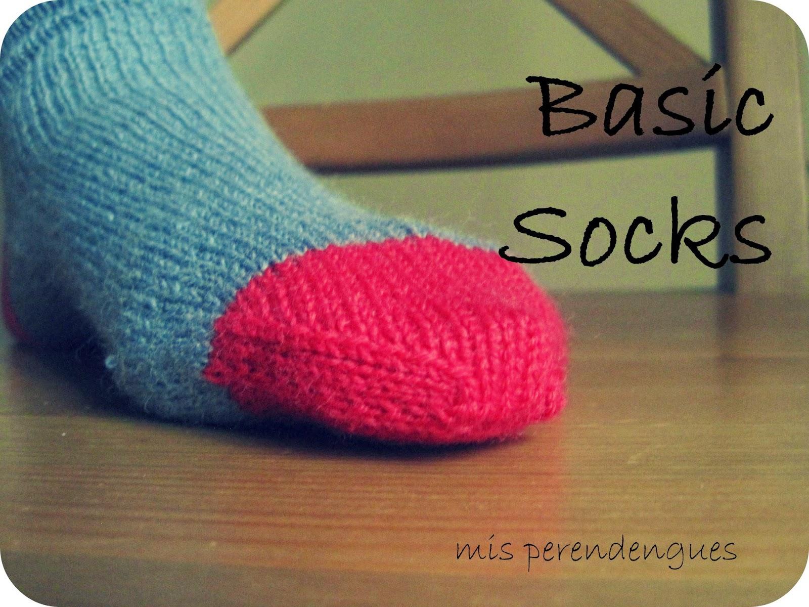 Mis perendengues mi primer patr n de calcetines b sicos - Como hacer talon de calcetines de lana ...