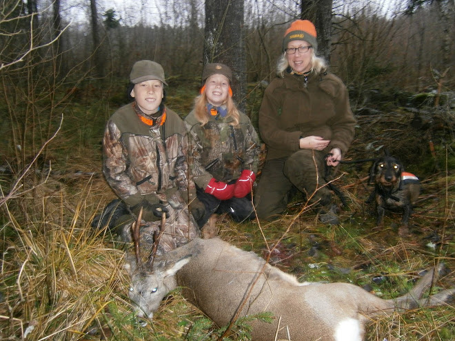 Dan före julafton jakt med familjen