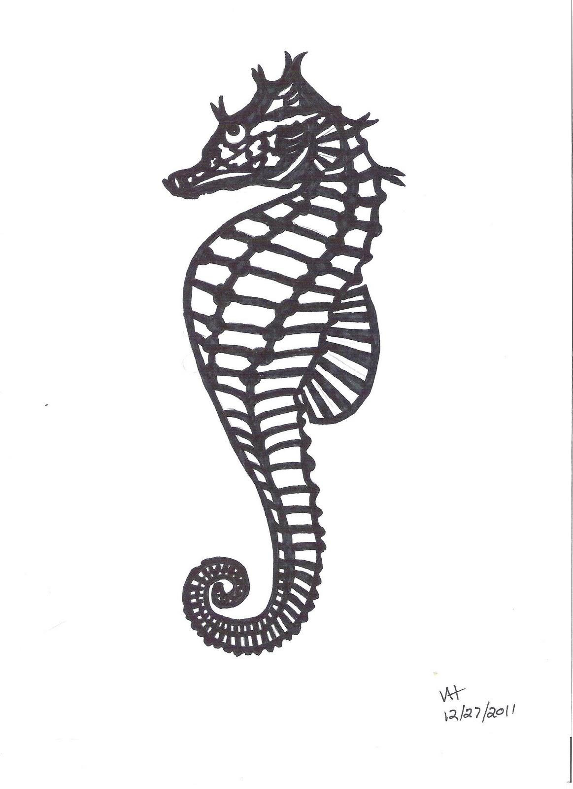 Cool Seahorse Drawings