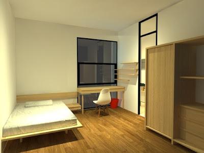 desain kamar kost minimalis + gambar desain terbaru tahun