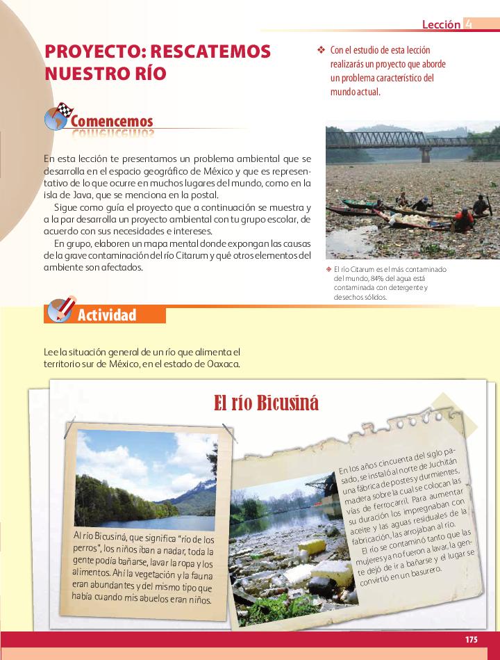 Proyecto: rescatemos nuestro río - Geografía Bloque 5to 2014-2015