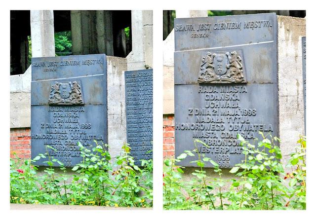 tablica pamiatkowa Westerplatte