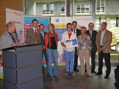Verleihung BoriS Berufswahl-SIEGEL 07/12: Sophie Nizielski, Jorge Martins-Olivera, Edith Vieser