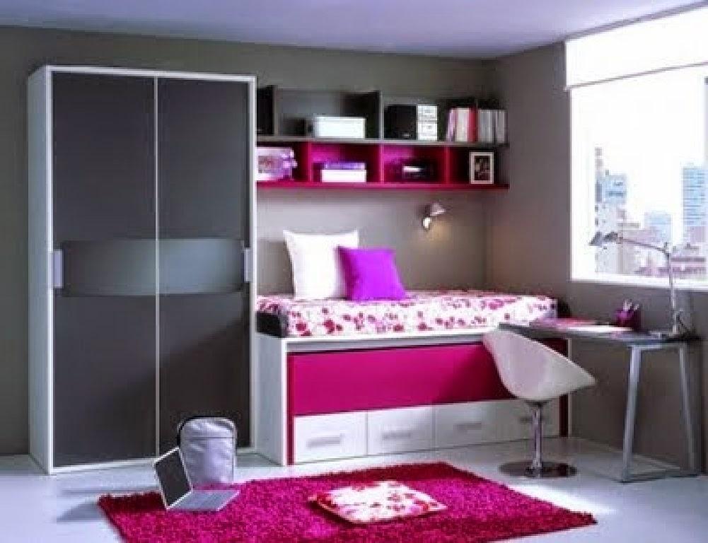 cama nido en decoracion de domitorio juvenil femenino