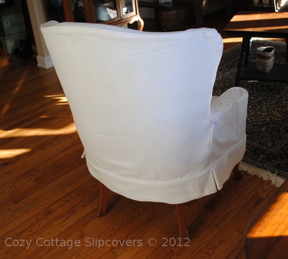White denim to match the sofa slipcover i did earlier this year