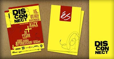diseño de flyer con ilustraciones