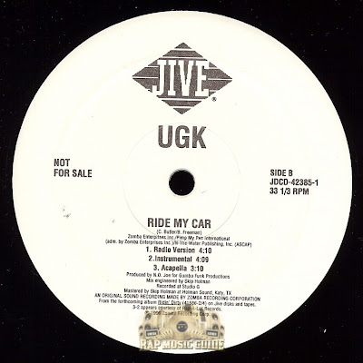 UGK – Ride My Car (VLS) (1996) (VBR)