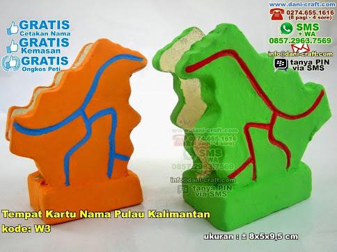 Tempat Kartu Nama Pulau Kalimantan Gerabah