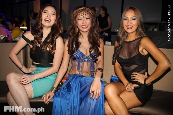 danita paner, bangs garcia and aubrey miles at 2013 fhm halloween ball 02