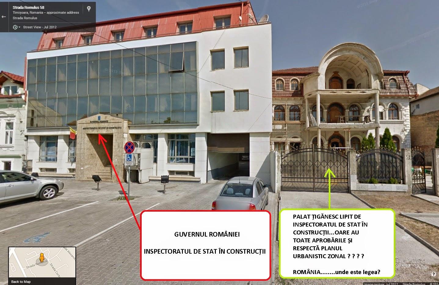Palat țigănesc lipit de Inspectoratul de Stat în Construcții Timișoara