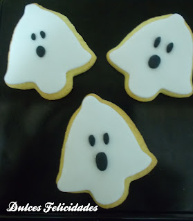 Galletas fantasmas halloween fondant
