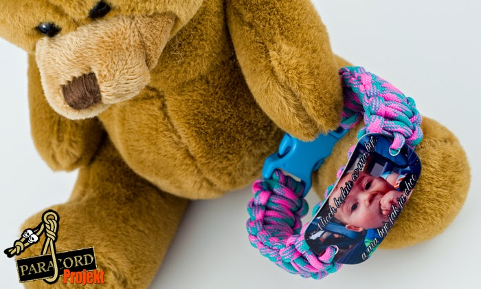 Bransoletka ze zdjęciem Twojego dziecka na blaszce 30x50mm