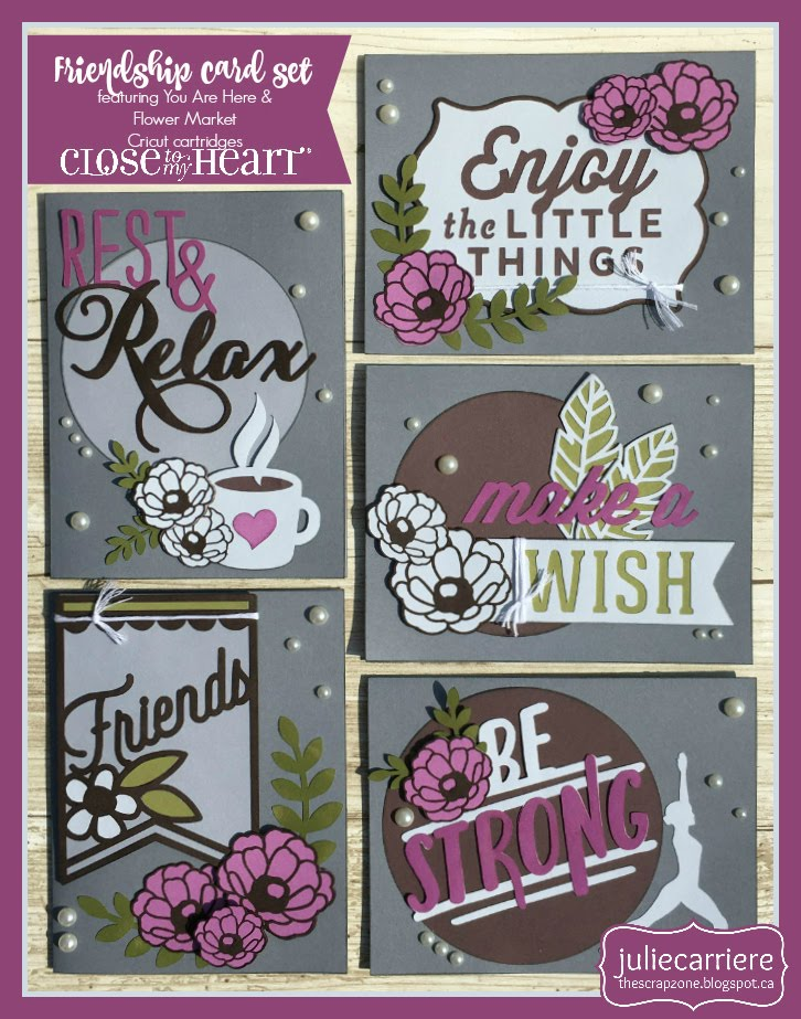 Friendship cardmaking assembly guide