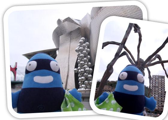 Edredón en los alrededores del Museo Guggenheim de Bilbao