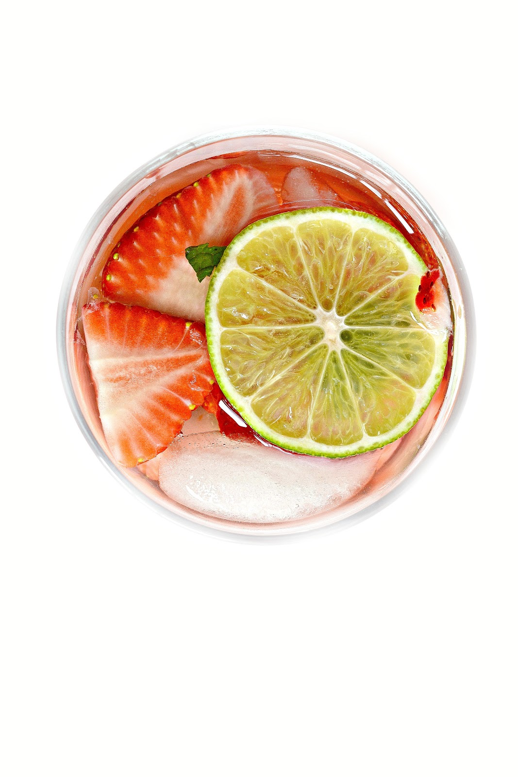 Strawberry and Lime Sangria with mint and sweetened with a touch of ...