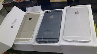 iPhone 6 + HDC replika hitam silver dan gold