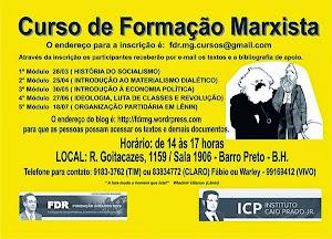 CURSO DE FORMAÇÃO MARXISTA ICP/MG