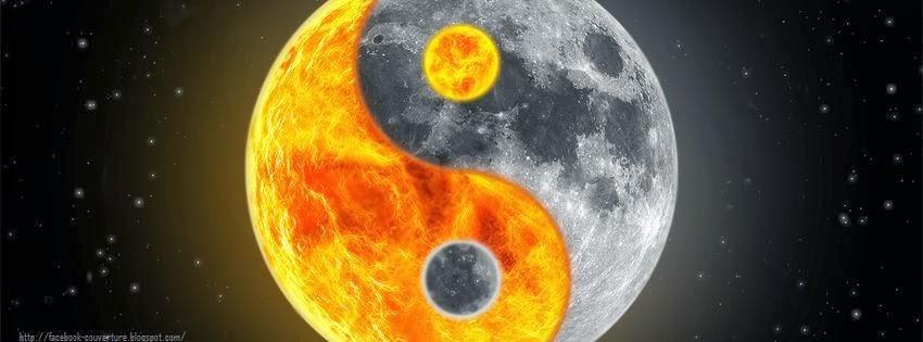 Couverture pour facebook HD yin yang