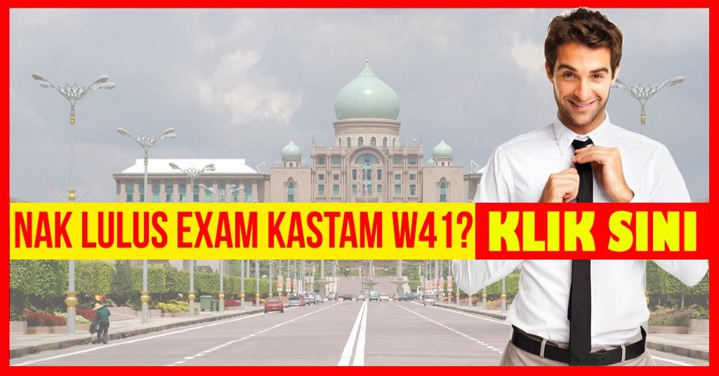 Exam Kastam W41 - Testimonial Rujukan Info Kerjaya