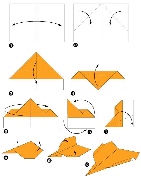 Оригами которые летают схемы