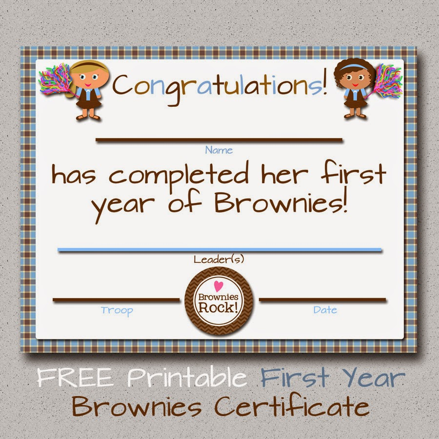 image relating to Girl Scout Certificates Printable Free referred to as My Contemporary Ideas: Lady Scouts: Free of charge Printable Brownies