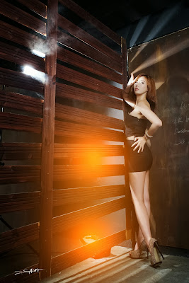 Shin Se Ha Sexy Model in Black Dress
