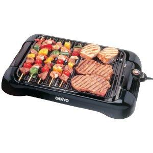 SANYO HPSSG3 BLACK BBQ GRILL INDOOR ELECTRIC 1300W APPLIANCES KITCHEN