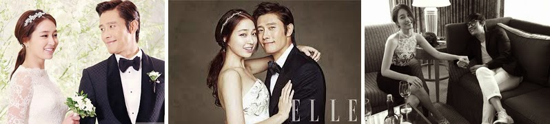 Lee Min Jung and Lee Byung Hun's wedding photos.