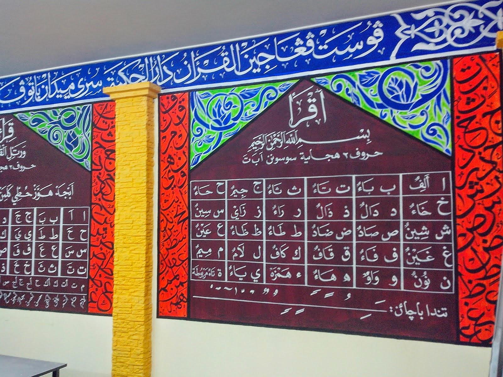 Membuat Mural Khat