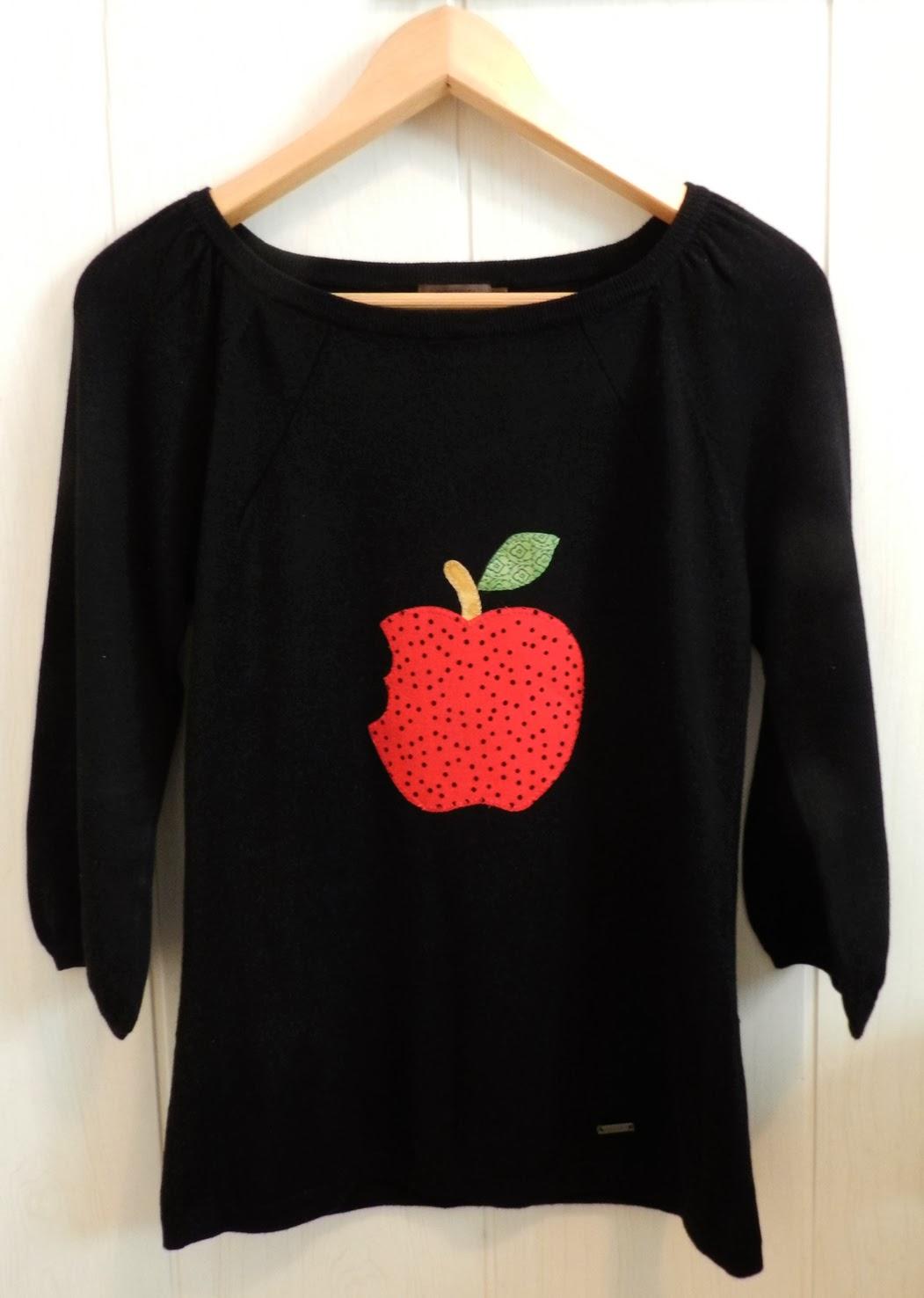 Camisetas patchwork, camiseta patchwork, camiseta con aplicaciones patchwork, aplicaciones, manzana mordida, camiseta, camiseta manzana mordida, camiseta adulto patchwork, camiseta mujer,