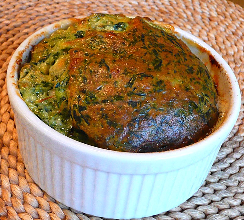 Living the life in Saint-Aignan: Easy spinach soufflé