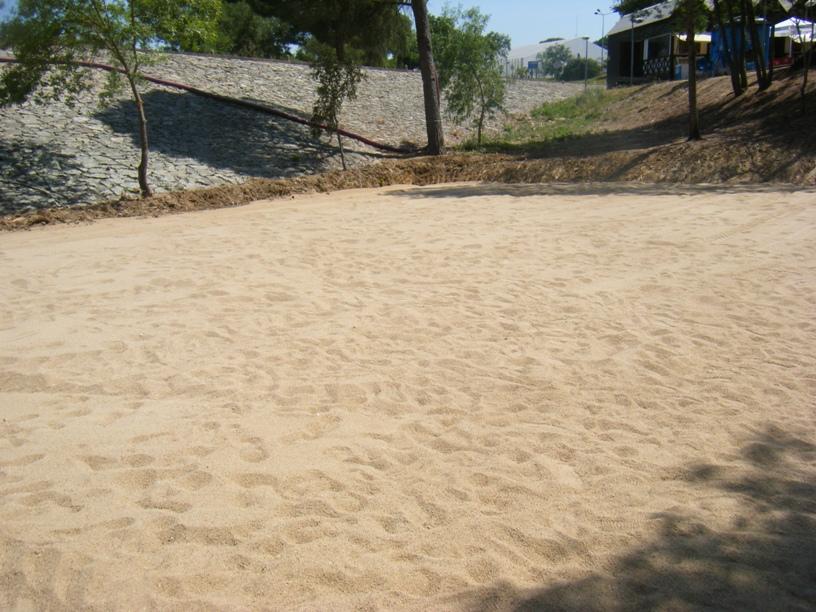 Zona da praia com areia mais fina