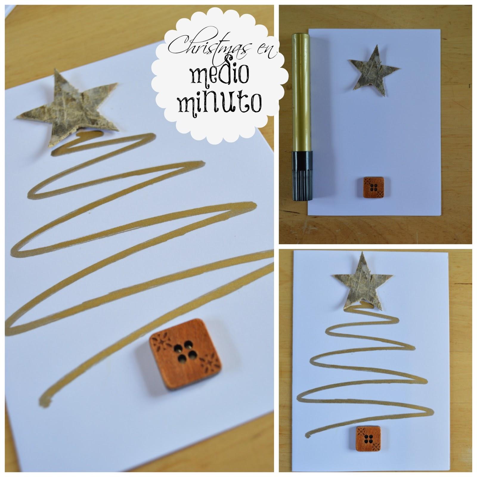 4 manualidades express para hacer con ni os elenarte - Ideas para hacer postales de navidad con ninos ...
