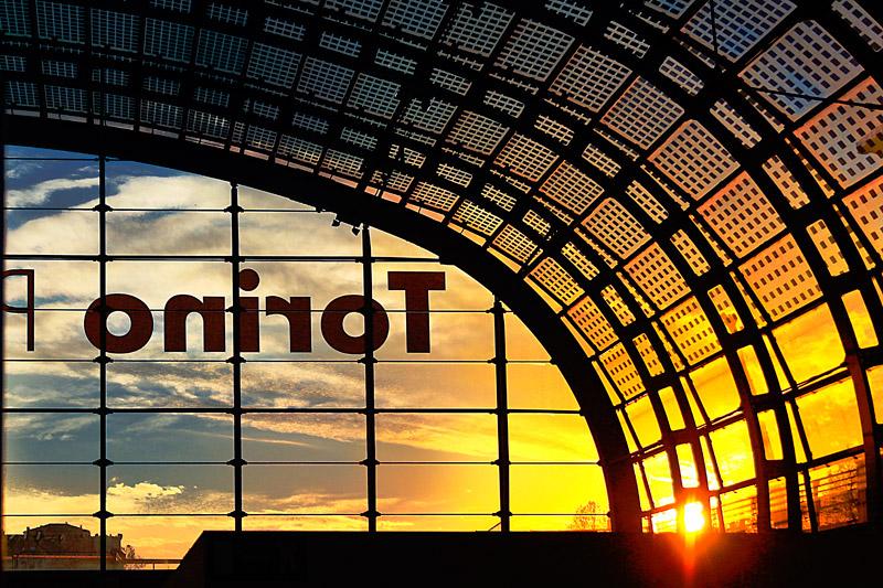 tramonto a Porta Susa