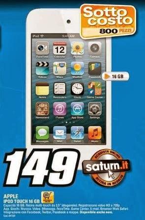 iPod Touch di 4a generazione venduto a 149 euro sottocosto da Saturn