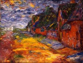 Emil Nolde(1867-1956)Maisons frisonnes I, 1910