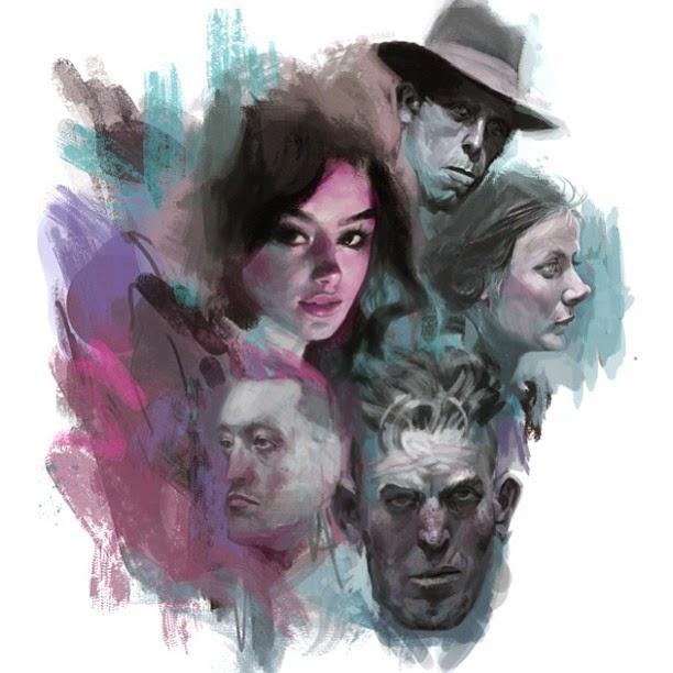 illustration de Will Murai représentant des visages dans un fond bleu