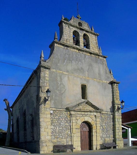 Iglesia de San Juan Evangelista en Cortiguera