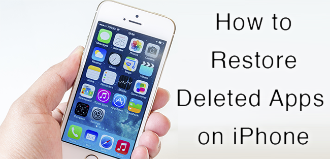 Restore Deleted Apps on iPhone