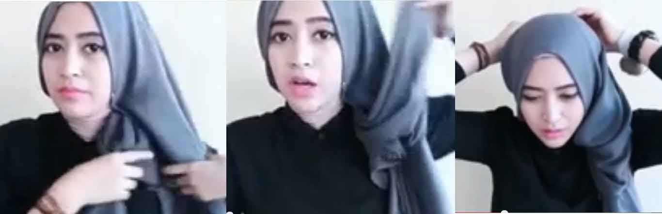 tutorial hijab scarf 3