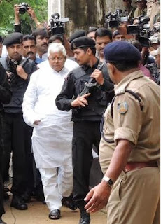 RJD leader and former Bihar Chief Minister Lalu Prasad, arrives at the special CBI Court in Ranchi, Jharkhand
