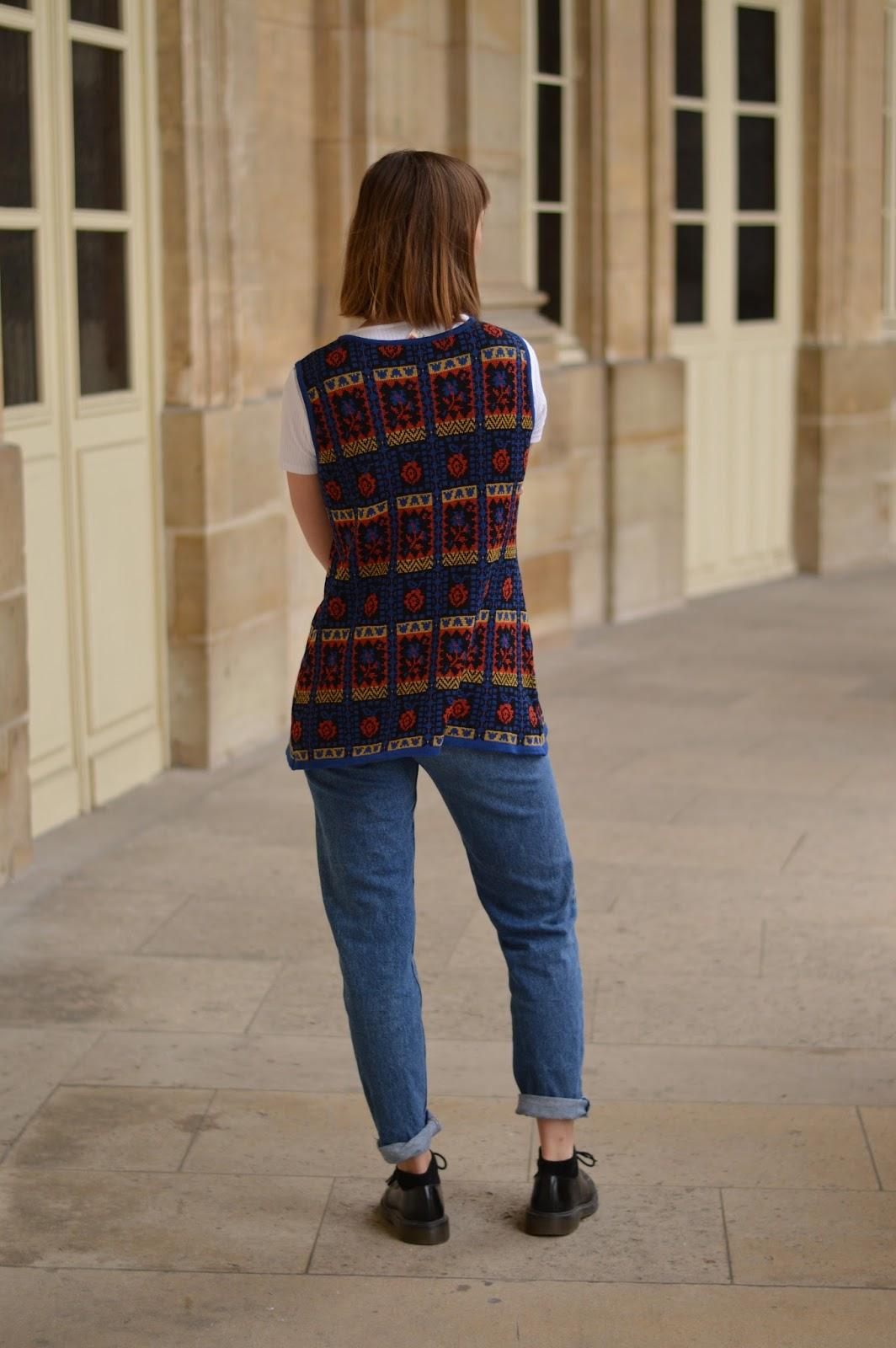 Seventies patterned wool gilet ss15