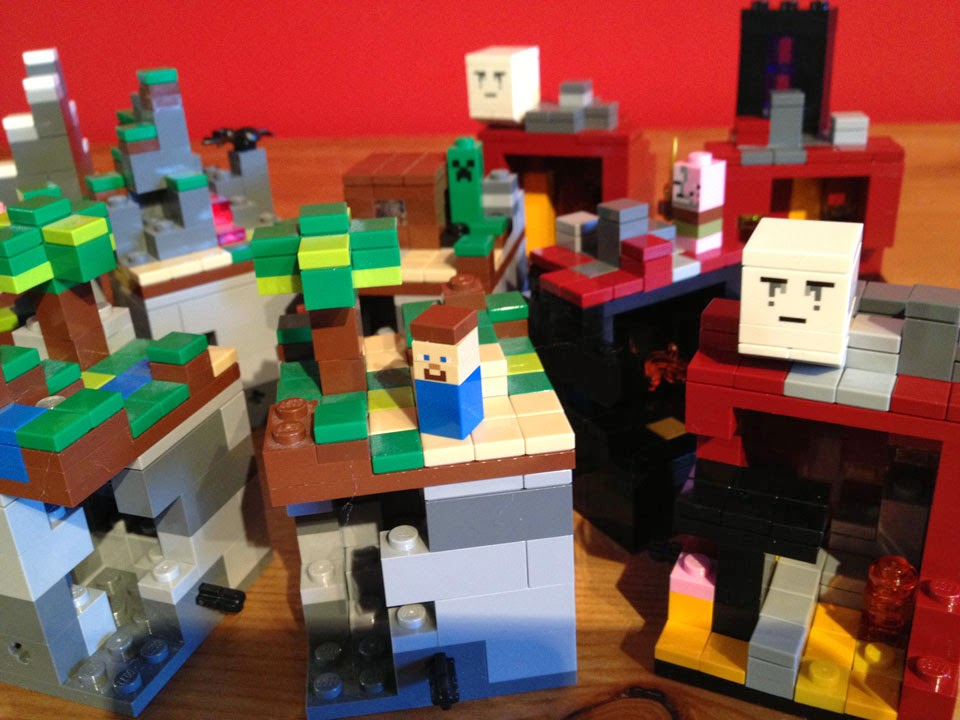 Fully Jointed Play Figures Lego Minecraft Micro World
