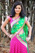 Pujitha sizzling in half saree-thumbnail-17