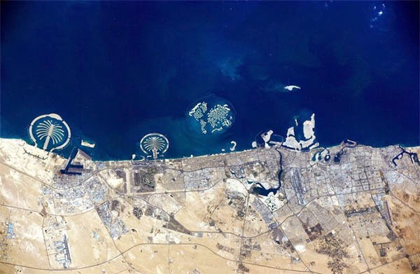 image of dubai from the space station