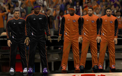 NBA 2K13 Phoenix Suns Realistic Warmup Jerseys Patch