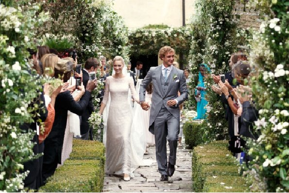 wedding ceremony of Pierre Casiraghi and Beatrice Casiraghi in Stresa